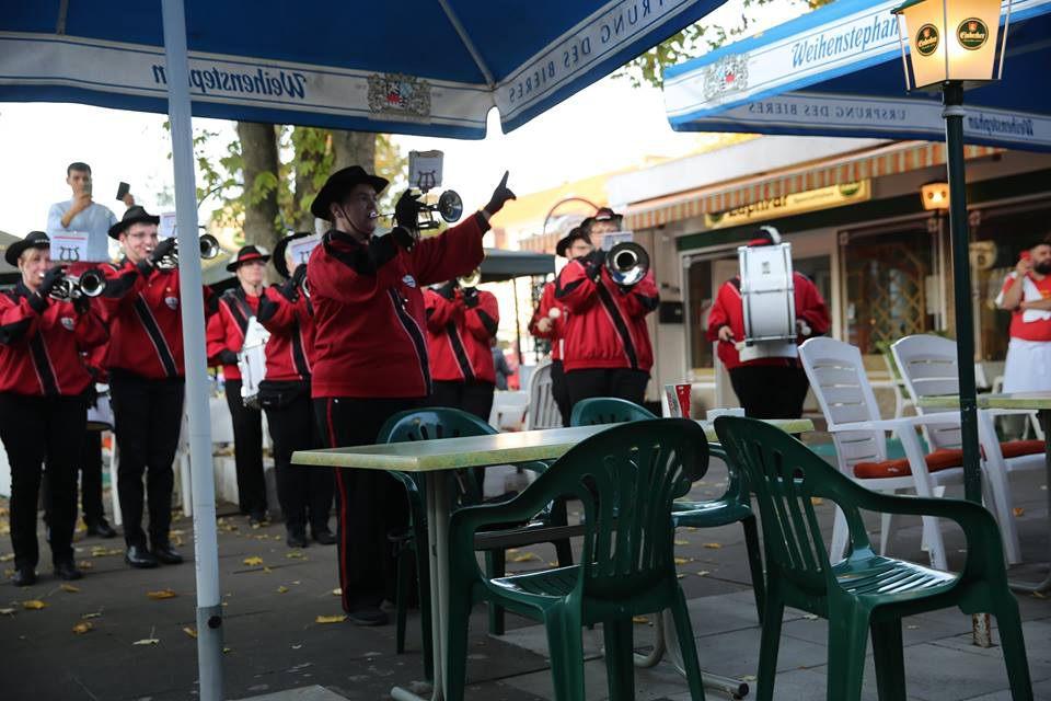 Fanfarenzug bei der Eröffnung GoHin