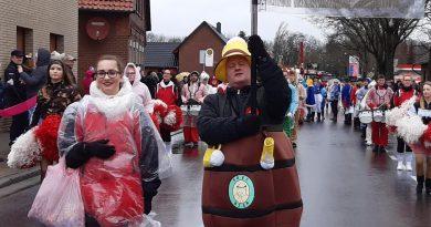 Fanfarenzug beim Karneval in Stolzenau